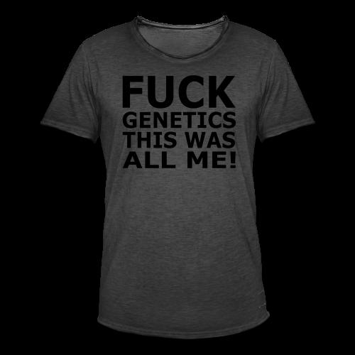 Fuck Genetics - Männer Vintage T-Shirt
