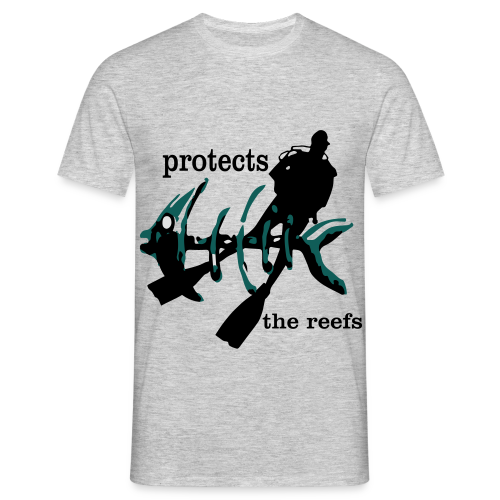 protects the reefs in the world - Männer T-Shirt