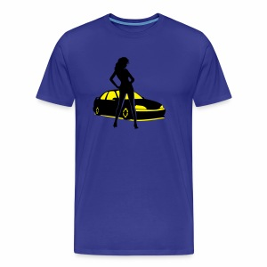 Car Tuning Girl (Coupe) - Männer Premium T-Shirt