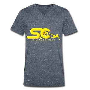 Skills & Control T-Shirt Slim Fit - Mannen bio T-shirt met V-hals van Stanley & Stella
