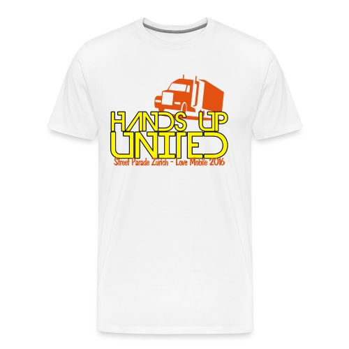 Hands Up United Männer Slim Fit T-Shirt (Weiss) - Männer Premium T-Shirt