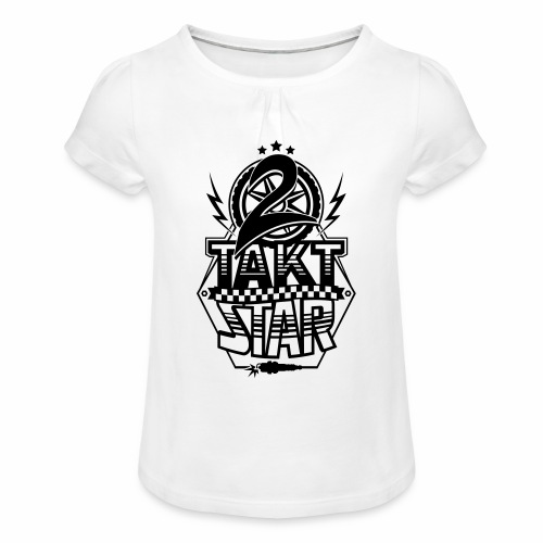 2-Takt-Star / Zweitakt-Star - Girl's T-Shirt with Ruffles