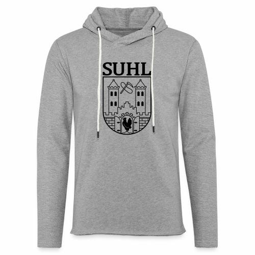Suhl Wappen mit Schrift (schwarz) - Light Unisex Sweatshirt Hoodie