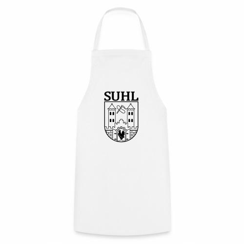 Suhl Wappen mit Schrift (schwarz) - Cooking Apron
