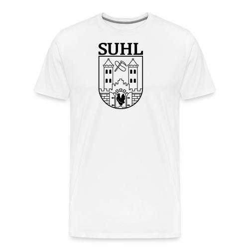 Suhl Wappen mit Schrift (schwarz) - Men's Premium T-Shirt