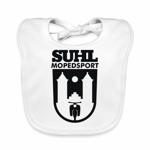 Suhl Mopedsport Schwalbe Logo - Baby Organic Bib