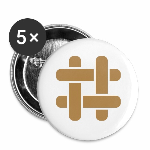 Briar T-Shirt (Male) - Buttons large 2.2''/56 mm (5-pack)