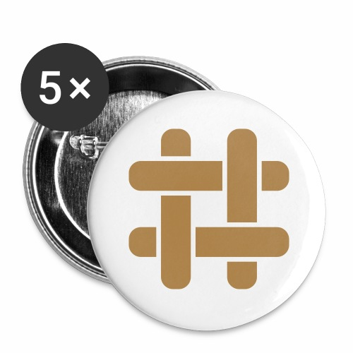 Briar T-Shirt (Male) - Buttons small 1''/25 mm (5-pack)