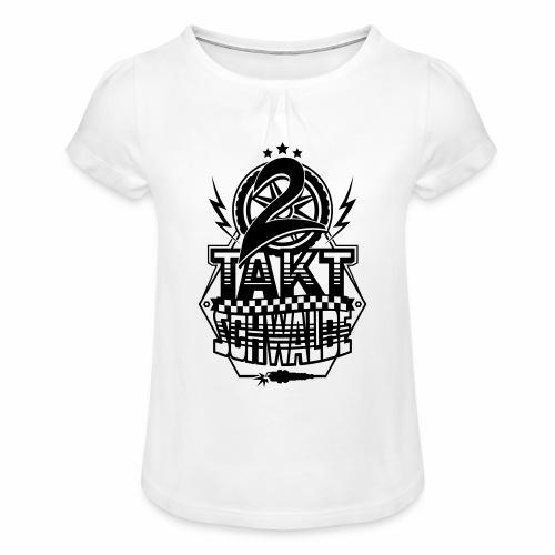 2-Takt-Schwalbe / Zweitaktschwalbe - Girl's T-Shirt with Ruffles