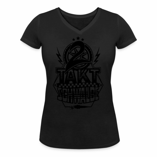 2-Takt-Schwalbe / Zweitaktschwalbe - Women's Organic V-Neck T-Shirt by Stanley & Stella