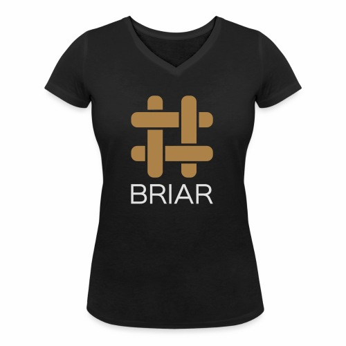 Briar Slim Fit (Male) - Women's Organic V-Neck T-Shirt by Stanley & Stella