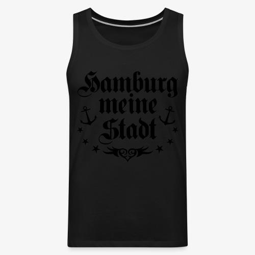 HAMBURG meine Stadt Anker Tattoo Männer T-Shirt schwarz - Männer Premium Tank Top