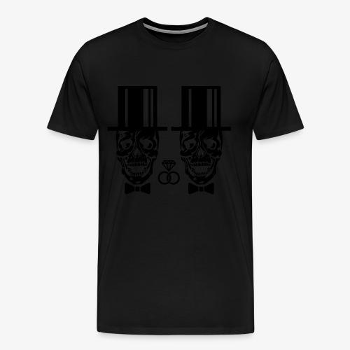 03 Skulls Bräutigam Bräutigam Elite JGA T-Shirt - Männer Premium T-Shirt