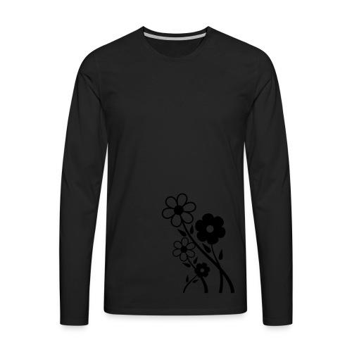 Flowers - Männer Premium Langarmshirt