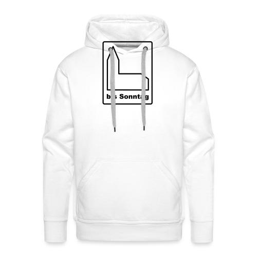 BIS SONNTAG-white black (Girls) - Männer Premium Hoodie