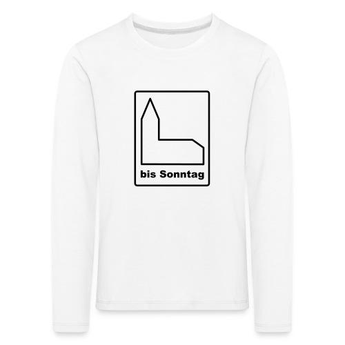 BIS SONNTAG-white|black (Girls) - Kinder Premium Langarmshirt