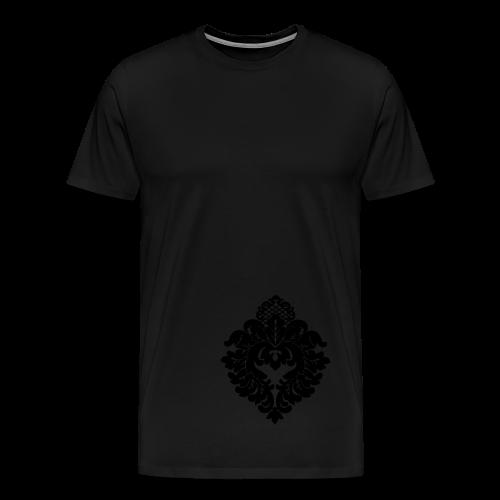 ChiBriNo Top Ornament silber links unten - Männer Premium T-Shirt