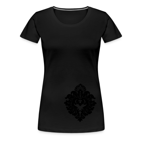 ChiBriNo Top Ornament silber links unten - Frauen Premium T-Shirt