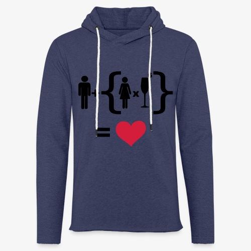 Men Women alcohol - Find the love Tops - Leichtes Kapuzensweatshirt Unisex