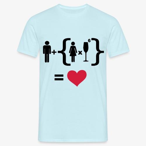 Men Women alcohol - Find the love Tops - Männer T-Shirt