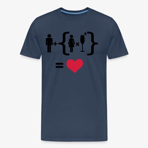 Men Women alcohol - Find the love Tops - Männer Premium T-Shirt