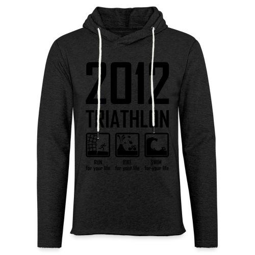 Triathlon - neon oranje - Lichte hoodie unisex