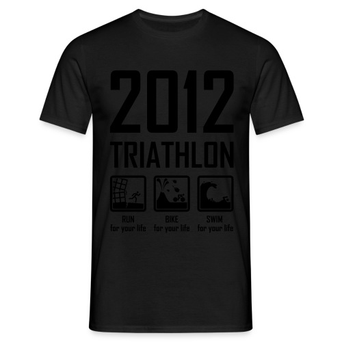 Triathlon - neon oranje - Mannen T-shirt