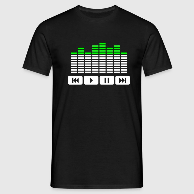 Black Equalizer audio player dj Men's T-Shirts - Men's T-Shirt