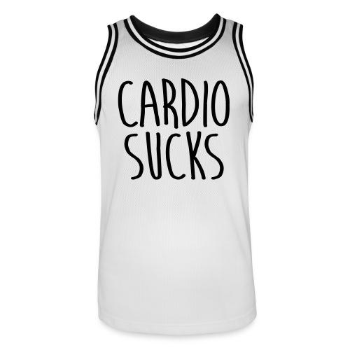 cardio sucks - Männer Basketball-Trikot