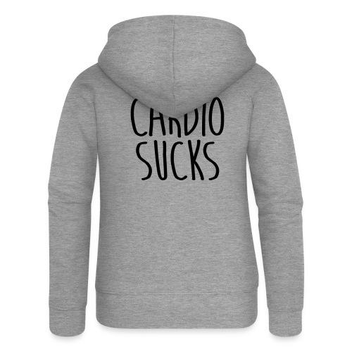 cardio sucks - Frauen Premium Kapuzenjacke