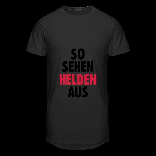 So sehen Helden aus Shirt - Männer Urban Longshirt