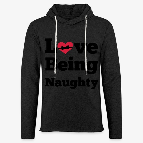 Sexy dirty - Love being naughty Tops - Leichtes Kapuzensweatshirt Unisex