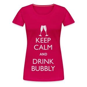Keep Calm - Drink Bubbly - Ladies Vest Top - Women's Premium T-Shirt