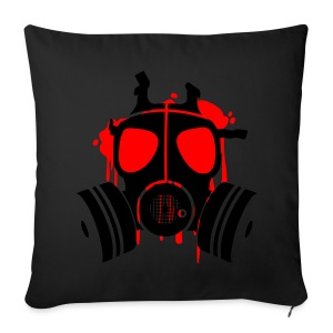 Men's black T-shirt Gas Mask - Sofa pillow cover 44 x 44 cm