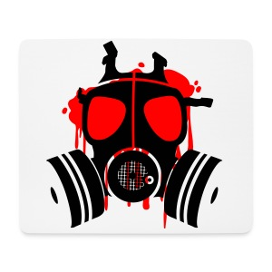 Men's black T-shirt Gas Mask - Mouse Pad (horizontal)