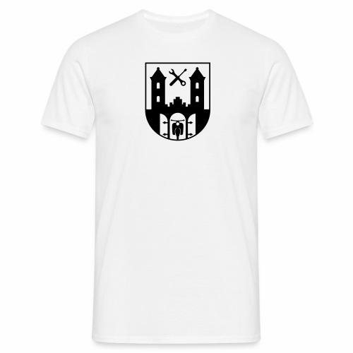 Simson Schwalbe - Suhl Wappen (+ Dein Text) - Men's T-Shirt