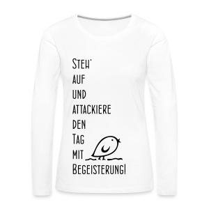 TWEETLER Begeisterung - Frauen Premium Langarmshirt