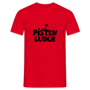 Pistenluder Tank Top (Pink/Weiß) - Männer T-Shirt