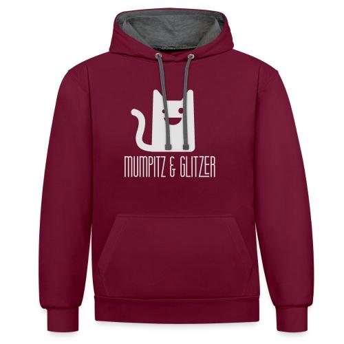 MuGli Hoodie Kleid - Kontrast-Hoodie