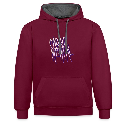 Carrie Mental Hoodie Kleid - Kontrast-Hoodie
