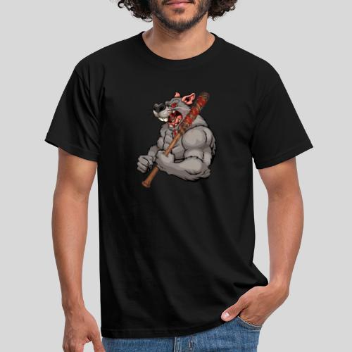 Ratte mit Baseballschläger - Männer T-Shirt
