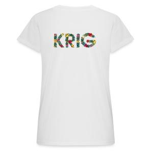 Blomstrende krig - Oversize T-skjorte for kvinner