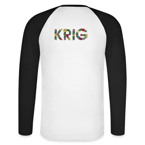 Blomstrende krig - Langermet baseball-skjorte for menn