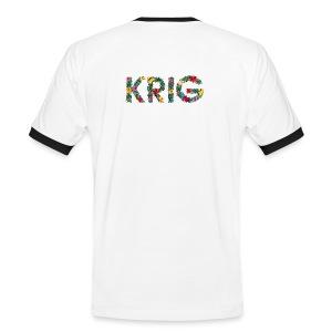Blomstrende krig - Kontrast-T-skjorte for menn