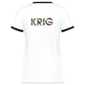 Blomstrende krig - Kontrast-T-skjorte for kvinner