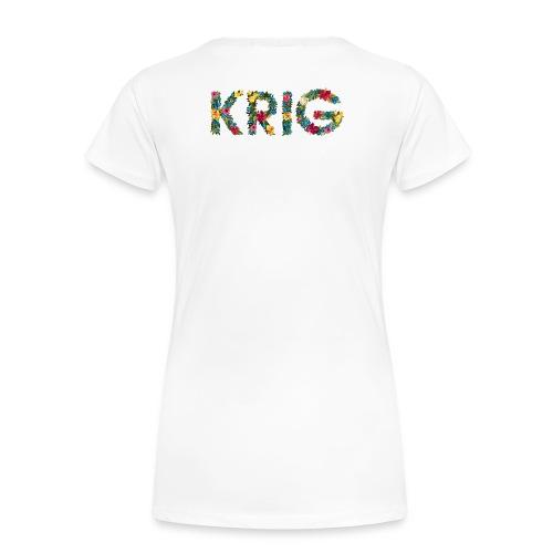Blomstrende krig - Premium T-skjorte for kvinner