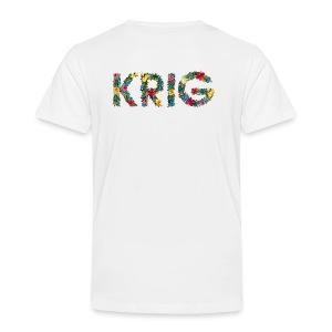 Blomstrende krig - Premium T-skjorte for barn