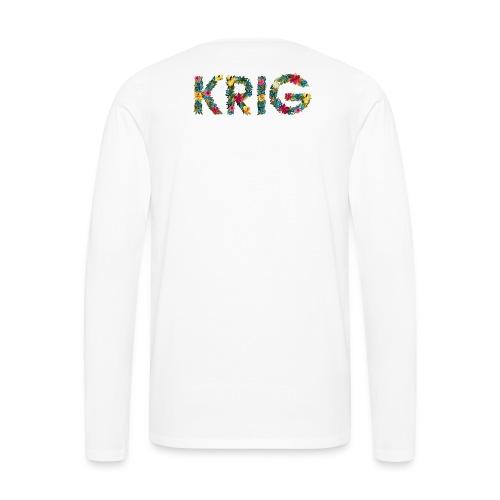 Blomstrende krig - Premium langermet T-skjorte for menn