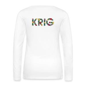 Blomstrende krig - Premium langermet T-skjorte for kvinner