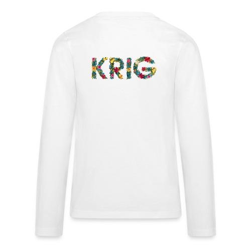 Blomstrende krig - Premium langermet T-skjorte for tenåringer